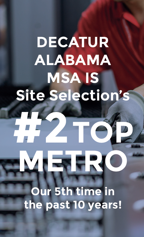 Decatur MSA once again named a Top Metro by Site Selection Magazine